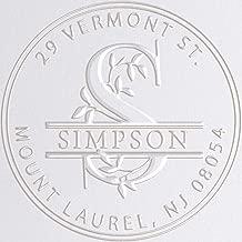 Monogram Address Embosser Seal Stamp Personalized Customized Monogram Wedding Invitations 1 x 5/8