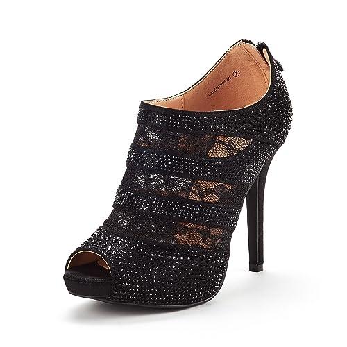 1272ee382e13f DREAM PAIRS Women s Valentine Fashion Dress High Heel Peep Toe Wedding  Pumps Shoes