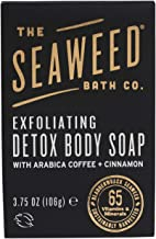 The Seaweed Bath Co. Exfoliating Detox Body Soap, Unscented, Natural Organic Seaweed, Coconut Oil, Vegan, Paraben Free, 3.75 oz.