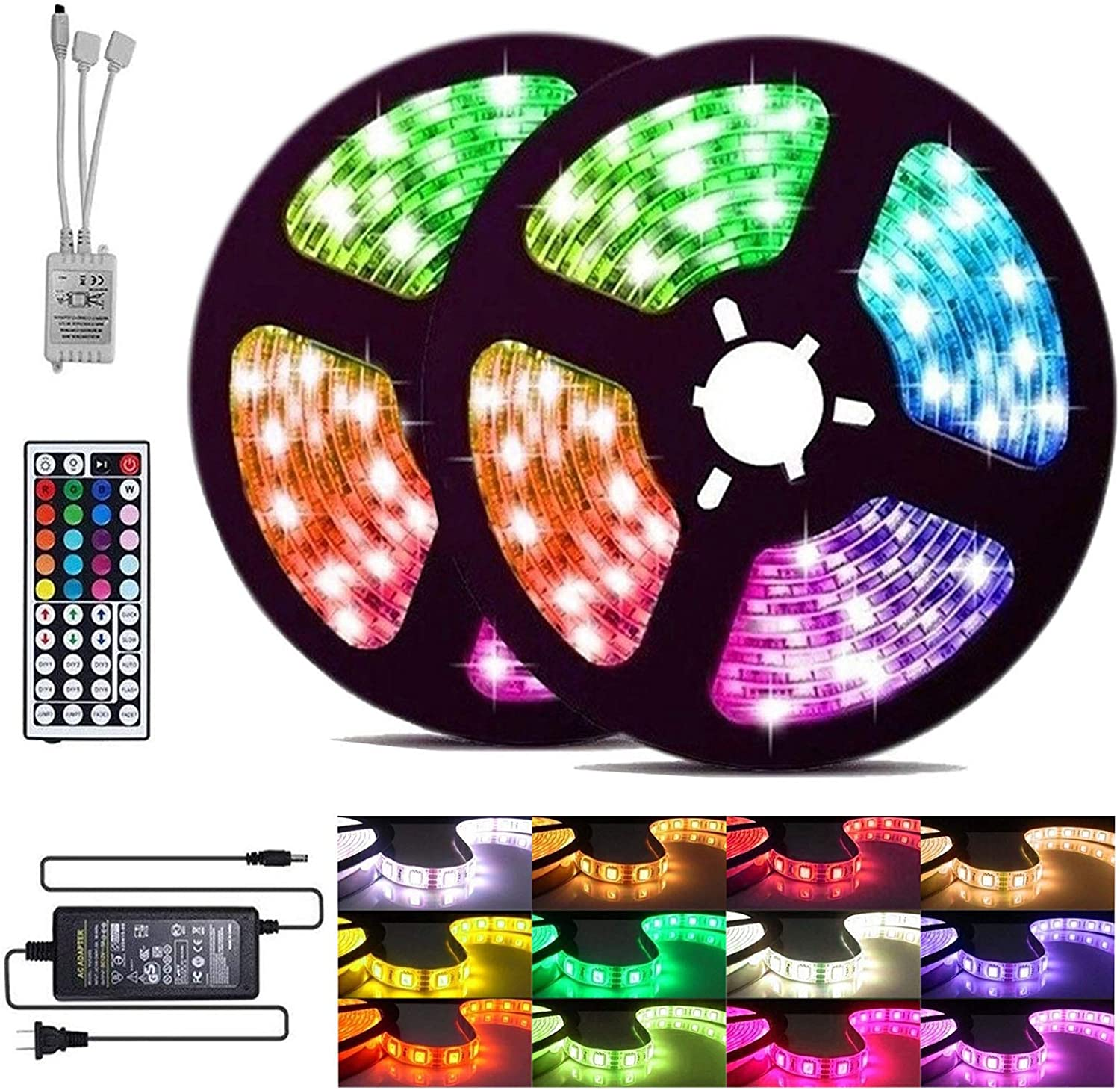 Free shipping anywhere in the nation Las Vegas Mall Abbaoww 32.8ft LED Strip Lights with Changing Led Color