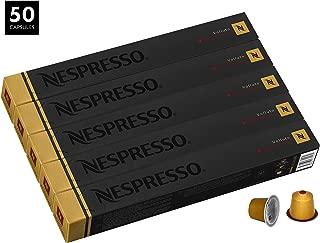 Nespresso Volluto Decaffeinato OriginalLine Capsules, 50 Count Decaf Espresso Pods, Intensity 4 Blend, Brazilian & Colombian Arabica Coffee Flavors