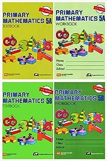 Singapore Primary Mathematics Grade 5 Kit (4 Books) - Textbooks 5A and 5B, Workbooks 5A and 5B (US Edition)