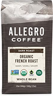 Allegro Coffee Organic French Roast Whole Bean Coffee, 12 oz