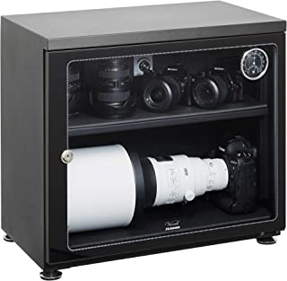 【Amazon限定ブランド】 HAKUBA 防湿庫 E-ドライボックス 大容量 85L カビ対策 自動除湿 静音 電子制御式 メーカー5年保証 KED-85W