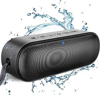 【最新型】LENRUE Bluetooth スピーカー IPX7防水 ポータブルスピーカー TWS ワイヤレス 14W ブルートゥーススピーカー 防塵 / 24時間連続再生 / Bluetooth 5.0 / マイク付/高音質/軽量/ブラック
