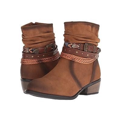 Roper Libbie (Burnished Tan Faux Leather) Cowboy Boots
