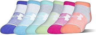 Girls' Essential No Show Socks, 6-Pairs