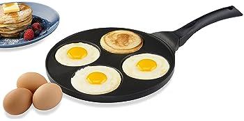 Gourmia GPA9520 Blini Pan Nonstick Silver Dollar Pancake Maker With 4-Mold Design 100% PFOA free non-stick coating