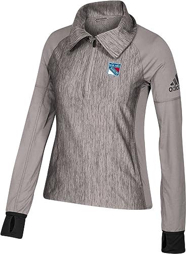 Adidas pour Femme nouveau York Rangers Logo gris Perforhommeces éclair 1 4Pull
