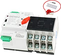 GAEYAELE W2R Mini ATS 4P Automatic Transfer Switch Controller Electrical Type ATS Max 100A 4POLE (W2R-4P 50A)