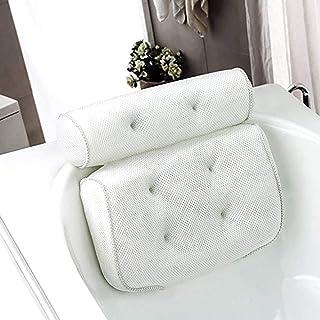 Almohada de Baño, Reposacabezas Bañera con 6 Ventosas,