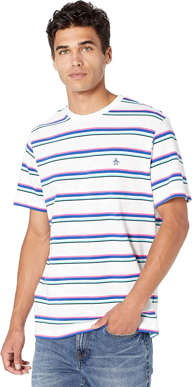 Original Low price Penguin Men's Short Tee Sleeve Max 87% OFF Stripe