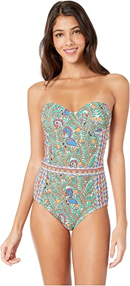 Printed Underwire One-Piece