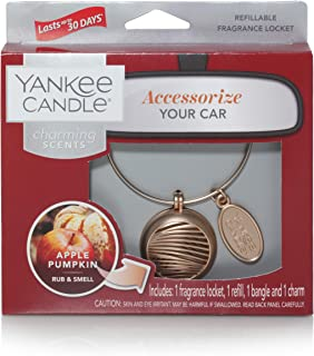 Yankee Candle Company Fragrance Locket Starter Kit   Charming Scents: Apple Pumpkin   Refillable