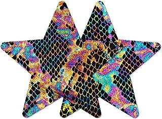 Nippies Style Black Rainbow Snake Star Waterproof Self Adhesive Nipple Cover Pasties