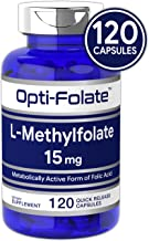 L Methylfolate 15mg | 120 Capsules | Value Size | Max Potency | Optimized and Activated | Non-GMO, Gluten Free | Methyl Folate, 5-MTHF | by Opti-Folate