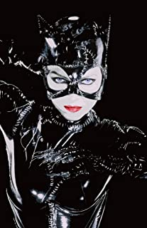 NLopezArt Catwoman Selina Kyle Michelle Pfeiffer from Batman Returns - Pop Art Film Superhero Movie Poster Print (11x17 inches) (11x17)