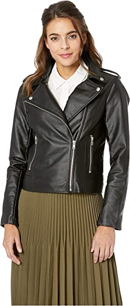 Just Ride Vegan Leather Moto Jacket