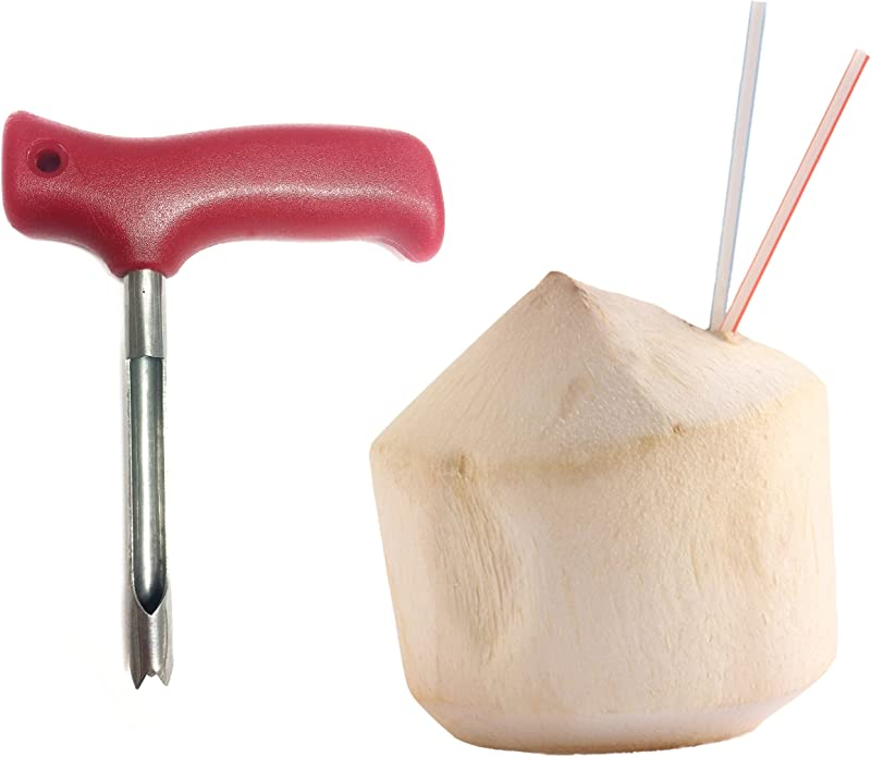 Red C Coconut Opener Knife Tool For Opening Young Coco Water Tap