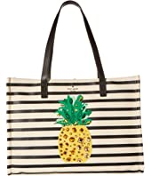 Kate Spade New York - By The Pool Canvas Pineapple Mega Sam