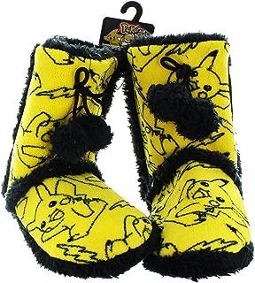 Pokemon Pikachu Allover Print Womens Boot Slippers