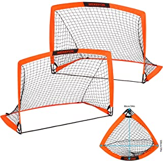 WEKEFON Soccer Goals, Set of 2 - Size 3.6'x2.7' Portable...