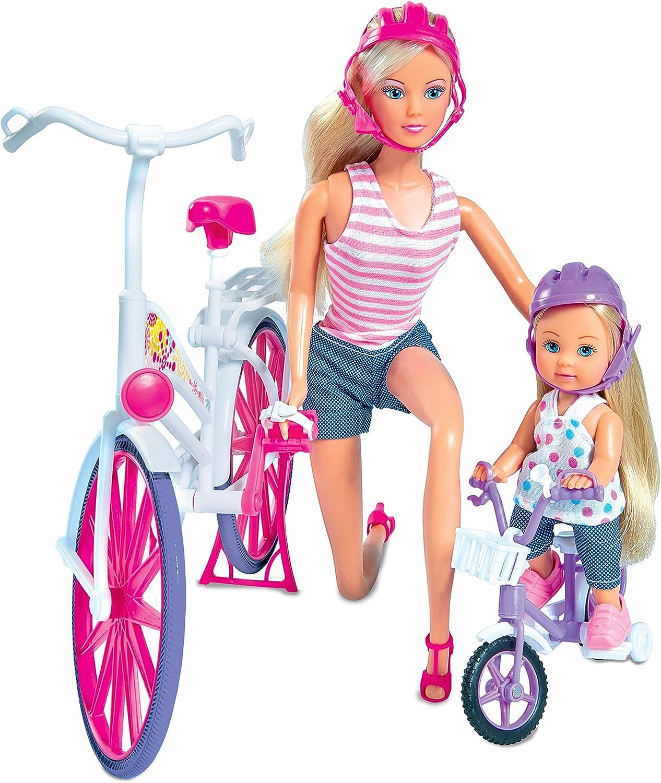 Simba SBA105733045 Steffi Love Steffi ed Evi in Bici
