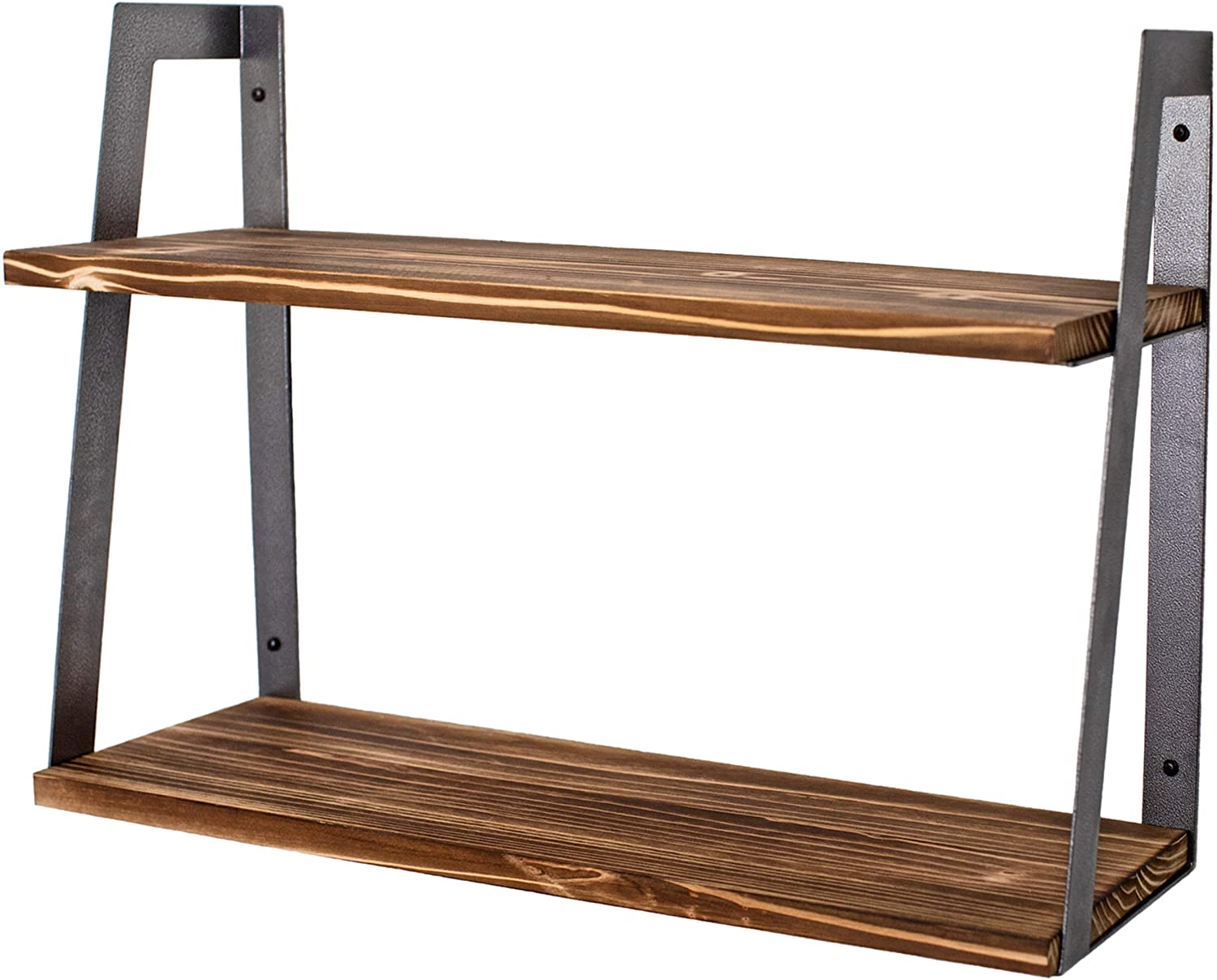 Peter's Goods 2-Tier Modern Inexpensive Rustic - Wall Shelves 5 ☆ very popular Floating