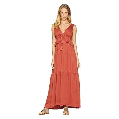 Sanctuary Delphina Tiered Maxi Dress (Terracotta) Women