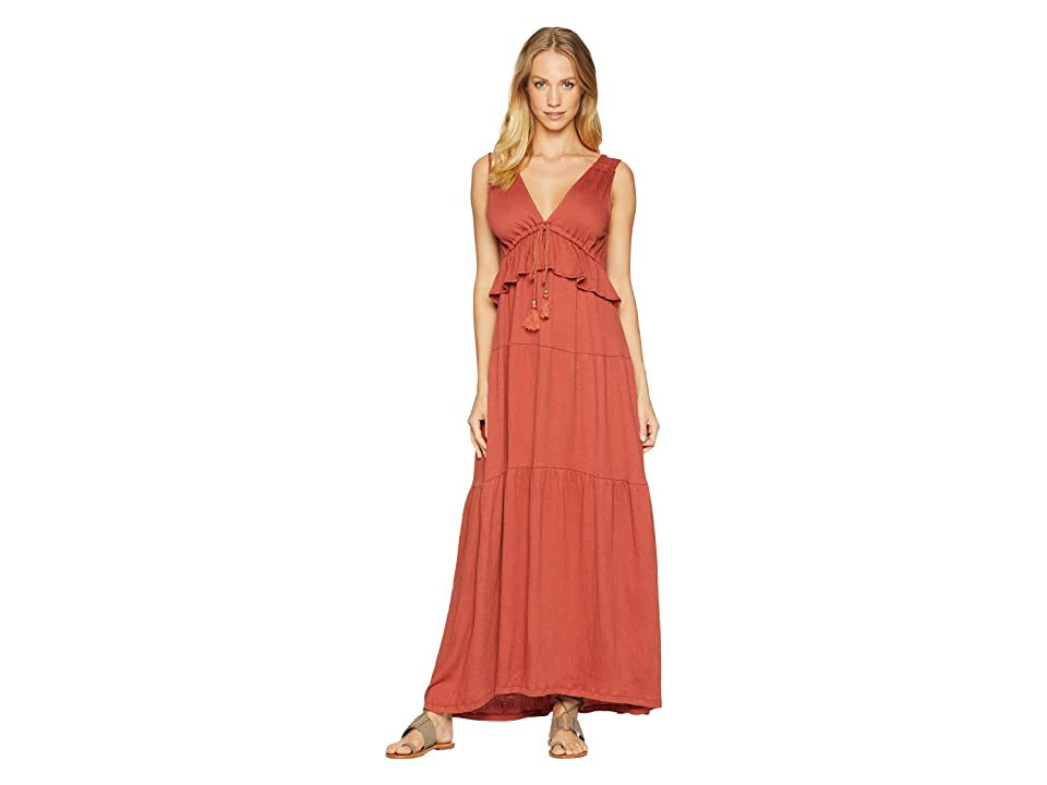 Sanctuary Delphina Tiered Maxi Dress (Terracotta) Women