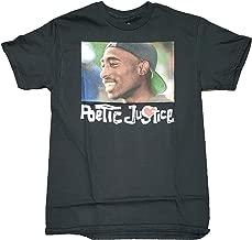 Fashion Poetic Justice Tupac Shakur Black Graphic T-Shirt