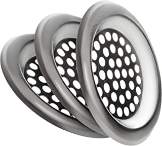 """Hair Catcher Sink Drain 3"""", Sink Strainer Flat, Drain Protector Stainless, Drain Catcher Hair, Drain Cover (Pack of 3)"""