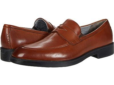 Johnston & Murphy Maddox Penny (Cognac Full Grain Waterproof Leather) Men