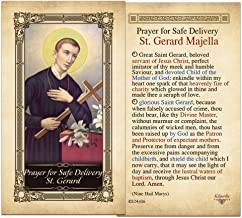 Safe Delivery St. Gerard Laminated Holy Card - Pack of 10