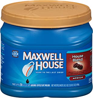 Maxwell House House Blend Medium Roast Ground Coffee (24.5 oz Canister)