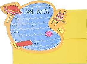 Mara-mi fiesta en la piscina die-cut Formulario invitación, 10-Count (mm0163202)