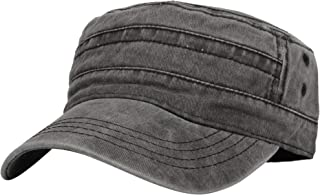 WITHMOONS Washed Cotton Cadet Cap Vintage Military Army Hat Mens Womens KZ40037