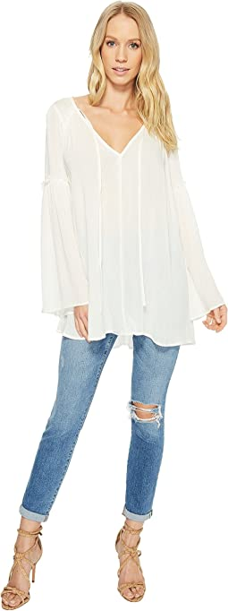 American Rose - Harper V-Neck Bell Sleeve Top