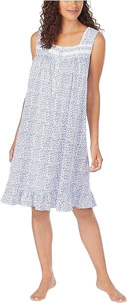 Cotton Jersey Knit Sleeveless Short Nightgown
