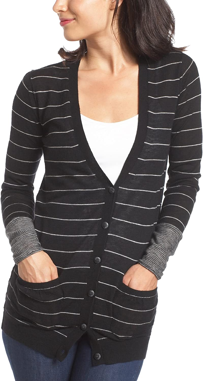 Splendid Women's Pencil Stripe Superfine Cashmere Sweater
