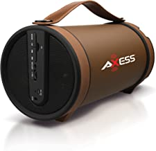 AXESS SPBT1033 Portable Bluetooth Indoor/Outdoor 2.1 Hi-Fi Cylinder Loud Speaker with..