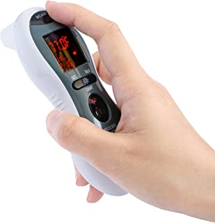 Mobi Ultra Pulse Ear and Forehead Talking Digital Thermometer with Pulse Rate Monitor, Flashlight, Ear Thermometer, Forehead Thermometer, Fever Thermometer, HSA Eligible/Approved