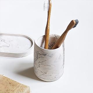 Atelier Ideco - Pot Marbré en Jesmonite pour Brosses à Dents