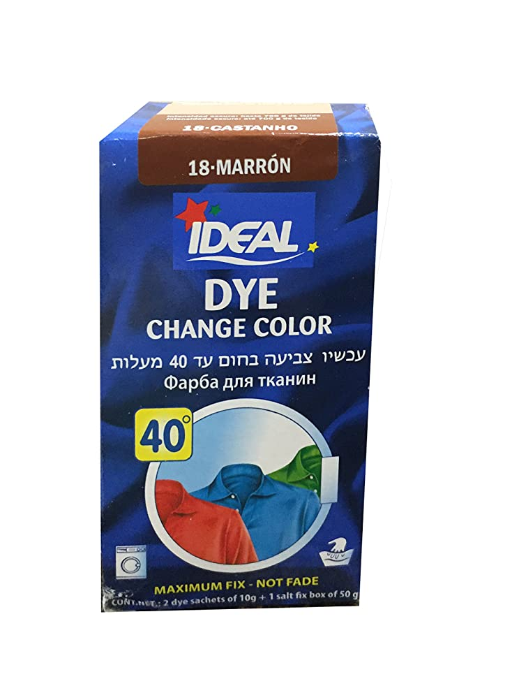 ideal Dye brown Powder Dye Purpose Fabric Color Tinte Laundry Clothing (1-pack)