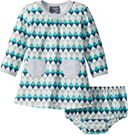 Toobydoo - Geo Blue Pocket Dress (Infant/Toddler)