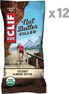 Clif Nut Butter Filled - Organic Energy Bars - Coconut Almond Butter - (1.76 Ounce Protein Snack Bars, 12 Count)
