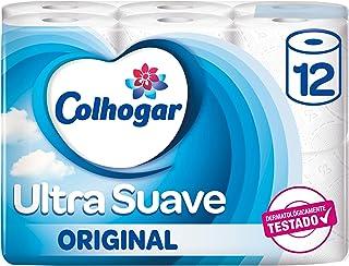 Colhogar - Dermia - Papel Higiénico 2 Capas con Aqua Tube - 12 Rollos (Papel WC)