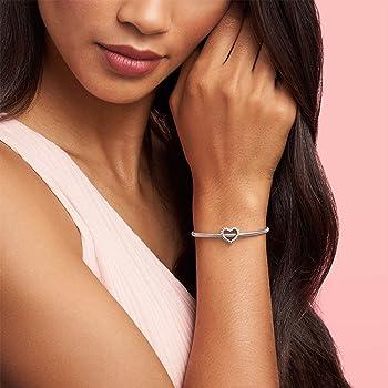 Pandora Jewelry Beaded Heart Sterling Silver Charm