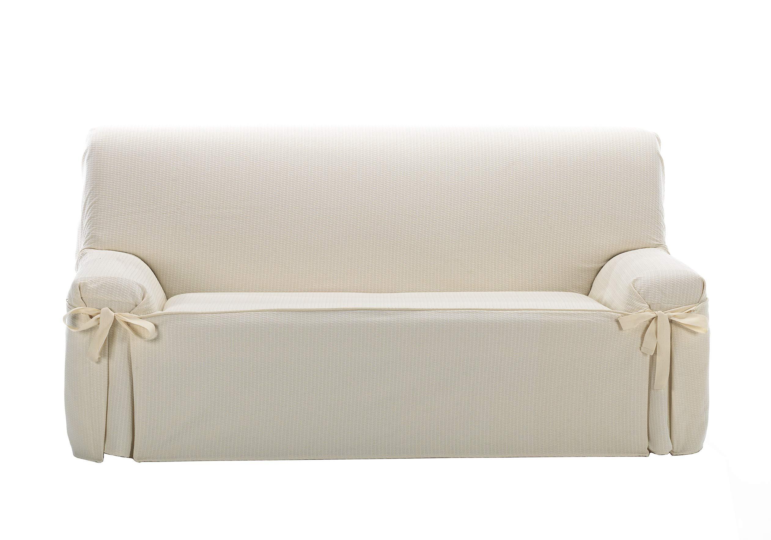 Colore beige Copridivano 3 posti per divani da 170 a 200 cm di larghezza Eysa Plus