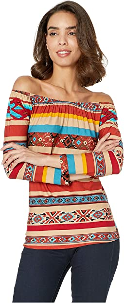 Serape 3/4 Sleeve Top